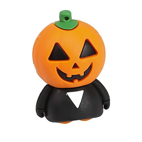 Zolimx USB 4GB /8GB /16GB /32GB /64GB Memory Stick Disk Digital Halloween Lustige Kürbis U Disk 2.0 Flash Speicherstick (32GB)