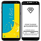 Sanguine Screen Protecter [Black 5D] 9H Tempered Glass Guard For Samsung Galaxy J4 Plus 2018
