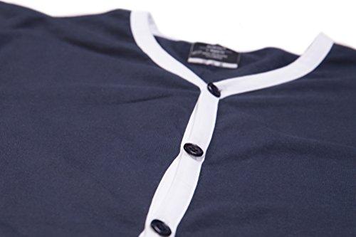JUMPSTER Jumpsuit SLEEPSTER Herren Einteiler Schlafanzug, Overall zum Schlafen, langer Onesie aus Baumwolle MADE IN EU Tiefes Meeresblau