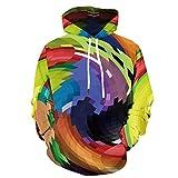 ZZBO Herren 3D Bunte Mode Coole Hoodies Jumper Kapuzenpullover Langarm Pullover Kapuzenpulli Sweatshirt Kapuzenjacke mit Kängurutasche und Zugband Casual Einfacher Stil Hoody S-XXXXXXL(Gelb, Lila)