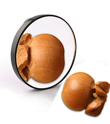 Miroir de maquillage, type de ventouse noire 10 fois le cadeau de maquillage pour miroir