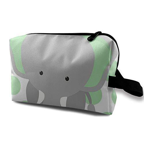 Bolsas de cosméticos de viaje Elefante de viaje Bolsa de maquillaje portátil Cremallera Monedero Hangbag