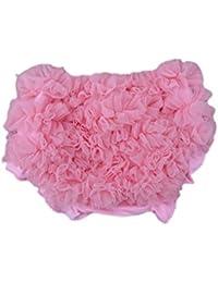 DELEY bebés sólido del cordón Bloomers de la colmena resume las bragas pañal rosa cubre S