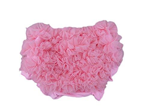 DELEY Baby Mädchen Solide Lace Kleid Rüsche Hose Pumphose Windel decken Rosa S