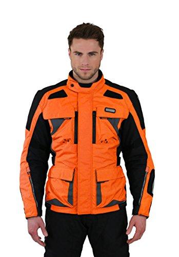 Mesh-motorrad-jacke (Nerve Tengri Motorrad Tourenjacke, Orange, L)