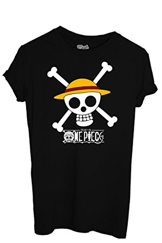 T-SHIRT One Piece Chapeau de Paille-Dessin Anime by MUSH Dress Your Style - Homme-S Noir