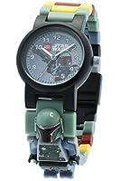 LEGO Star Wars Boba Fett Kids Minifigure Link Buildable Watch | green/grey | plastic | 28mm case diameter| analogue quartz | boy girl | official