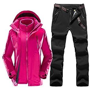 AXIANNVSkianzug Winter, warme wasserdichte Outdoor Sports Skijacke und Hose Winddichtes Snowboard Set Skiausrüstung