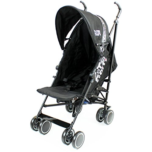 Zeta Citi Stroller Buggy Pushchair Black (Footmuff + Raincover)