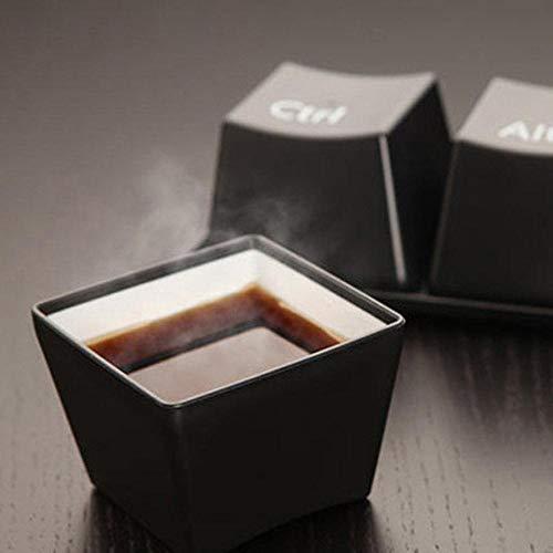 Kreative Tasse Kreative Tasse Tee-Set Tastatur Mode Tassen Schwarz Farbe Ctrl Del Alt 3 Teile/becher Werbegeschenke Messen Hochzeit, Schwarz