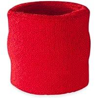 Suddora - Muñequeras, algodón, 1 unidad, rojo