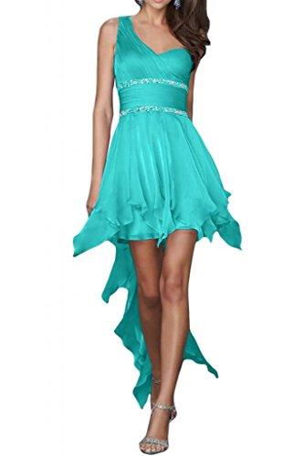 Toscana sposa sweet Heart un-spalla Chiffon Hi-Lo dal giovane sposa per una serata vestimento Party ball vestimento Jaeger Gruen