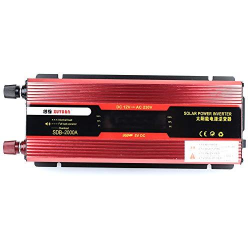 Bolange Auto Inverter Solar Power Inverter Tragbare 2000 Watt Spitze Dc12V Zu Ac110V / 220V Outdoor Aluminiumlegierung Für Camping> L, Dauerhafte 900 Watt;