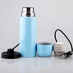 Idea Regalo - Tazza elettrica a tazza da tè riscaldata per tè di caffè - farfallina isolata (12V / 24V) , blue , 12v