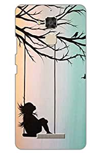 AMAN Girl on Swing Painting 3D Back Cover for Asus Zenfone 3 Max ZC520TL