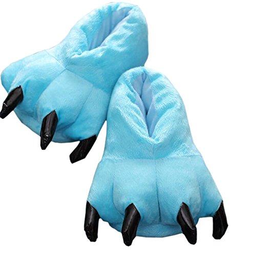 m Weich Plüsch Pfote Klaue Haus Hausschuhe Cosplay Tier Kostüm Schuhe Hellblau M (Cosplay House Kostüme)
