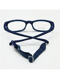 EnzoDate Los niños gafas de marco tamaño 44/16 con no correa tornillo 3-5Y