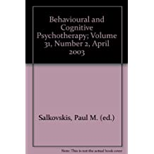 Behavioural and Cognitive Psychotherapy; Volume 31, Number 2, April 2003