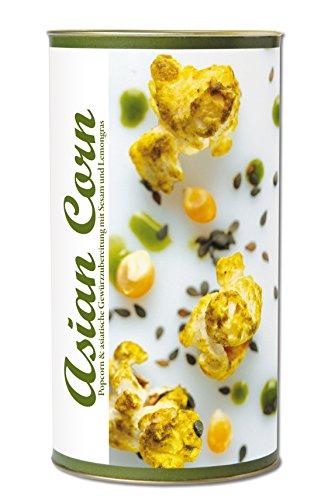 Preisvergleich Produktbild Gourmet Popcorn zum Selber-Backen,  fruchtig saures asiatisches Popcorn,  mit Sesam,  Lemongras und Kurkuma. Raffinierte Geschenk-Idee,  frisch-duftend,  auch als Party-Snack Asian Corn von Feuer & Glas 319g