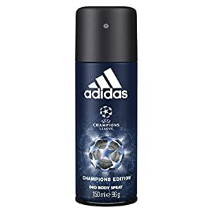 Adidas Champions League UEFA 4 Body Spray for Men, 150ml