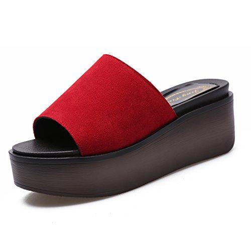 ZPPZZP Ms sandali pantofole spessa stile Coreano pendenza un campo con la funzione di drag and drop 40EU