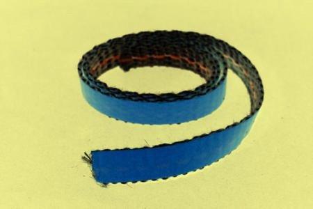 Preisvergleich Produktbild Glasband schwarz 10x2 flach Beutel á 2m