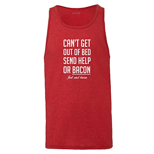 Brand88 - Can't Get Out Of Bed Send Bacon , Unisex Jersey Weste Rot Meliert