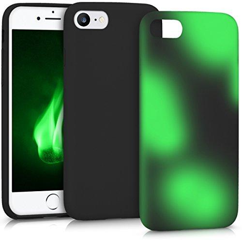 kwmobile Hülle für Apple iPhone 7/8 - TPU Silikon Backcover Case Handy Schutzhülle - Cover Farbwechsel Schwarz Grün