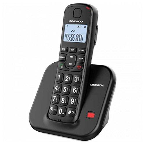 Daewoo DTD-7200BK - Teléfono inalámbrico, Color Negro
