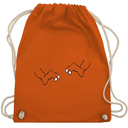 Karneval & Fasching - T-Rex Karneval Kostüm - Unisize - Orange - WM110 - Turnbeutel & Gym Bag