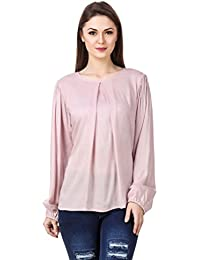 Mind The Gap Rayon Pink Solid Top