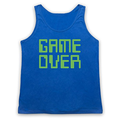 Game Over Hipster Tank-Top Weste Blau