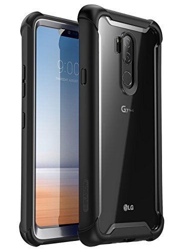 i-Blason [Ares] Full-Body Rugged Clear Bumper Case Cover for LG G7+ / LG G7+ ThinQ Built-in Screen Protector