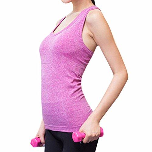 QIYUN.Z Femmes Fitness Seance D'Entrainement Train Fonctionnant Veste De Sport De Yoga Sommets Extensibles Respirants Ma Pourpre