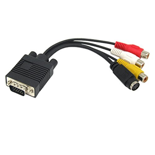DealMux 15 Pin VGA zu S-Video 3 RCA Composite-AV-Kabel-Adapter-Konverter für TV 15 Pin Vga-zu-rca