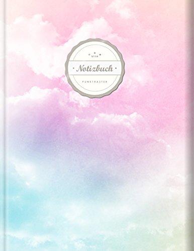 """Punktraster Notizbuch (©Star, A4, 156 Seiten, Softcover)    Dickes Notizbuch mit Register + Robuster Einband    Bullet Journal, Handlettering, Skizzenbuch, Zeichenbuch, Tagebuch, """"Rosa Wolken"""""""