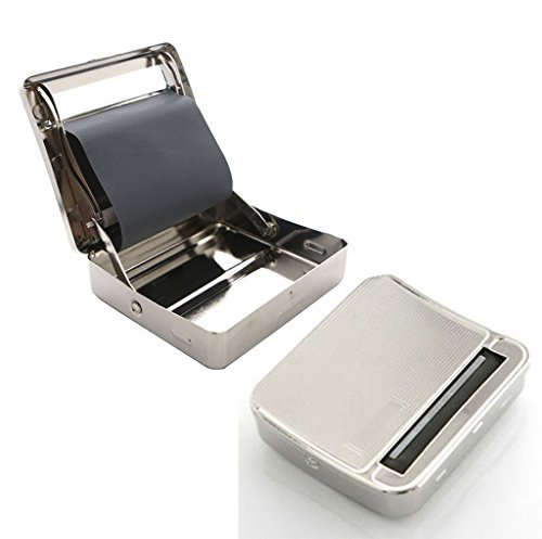 Guaranteed4Less Tabak-/Zigarettendose mit automatischer Zigarettendrehfunktion, aus Metall