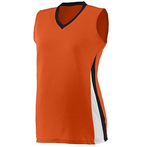 Augusta - T-shirt de sport - Femme Multicolore - Orange/Noir/Blanc