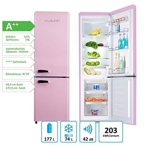 Wolkenstein KG250.4RT SP A++ Kühl-/Gefrierkombination, pink