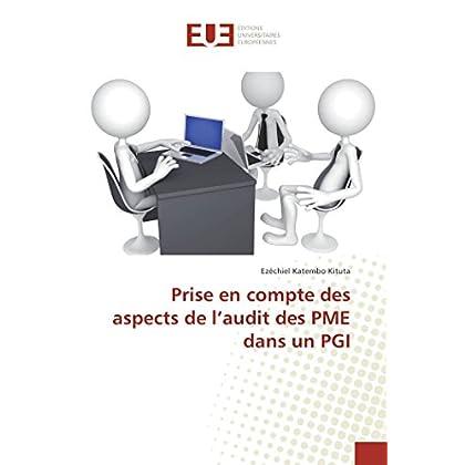 Prise en compte des aspects de l'audit des PME dans un PGI