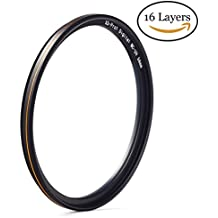 MC UV-Filter - Ultra dünn 16 Schichten Multi-Beschichtung Ultraviolett-Schutz Linse UV Filter für Canon Nikon Sony DSLR Objektiv