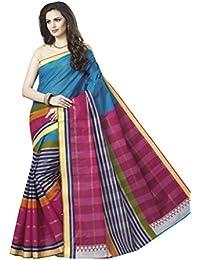 Vinay's Sarees Pure Cotton Aishwarya Print Saree For Women With Blouse Piece