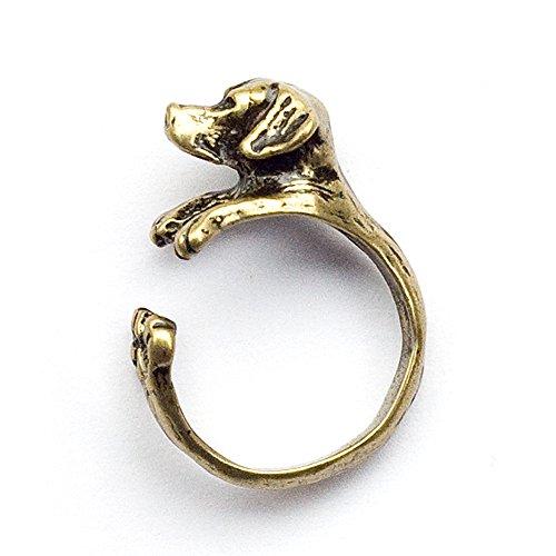 Ring 'LabLove' bronze-antik | Labrador-Ring | Hundeliebhaber | Schmuckring Hund | Ring Hundekopf | Hundering Schmuck | Ring Hund | verstellbar (Zink-metall-lab)