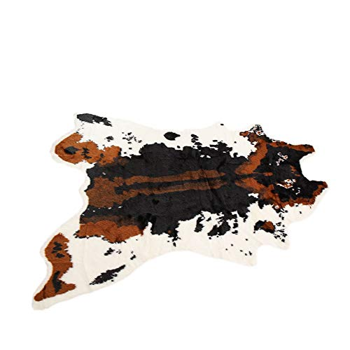 Tianya Künstliche Teppich aus Rindsleder, Kuhfell, für Westerndekoration, Kunstfell Druck Leopard-Zebra-Rinder Fell Faux Teppich Plüschdecke (A) -