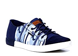Provogue Mens Navy Canvas Sneakers (PV6005) - 10 UK