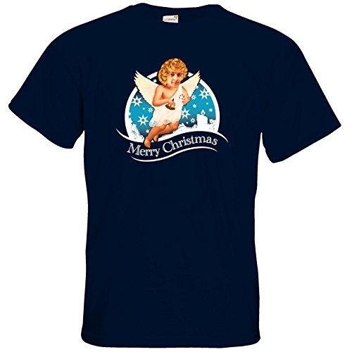 getshirts - Heidelwurst - T-Shirt - Weihnachtsengel Navy