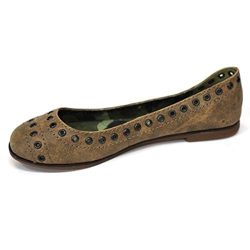 Lucky marchio mid piatto scarpe, dimensioni UK 3, da £118 Verde (marrone)