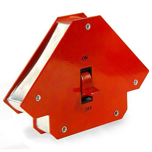 First4magnets WM-L-1 Großen schaltbare Multiwinkel Schweißen Magnet, 24 kg/55 lbs, 1 Packung, Metall, silber, 45 x 90 x 135 Grad, 25 x 10 x 3 cm