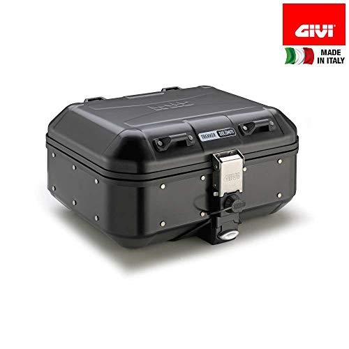 GIVI Valigia Monokey DLM30B Trekker Dolomiti in alluminio verniciato nero, 30 lt.