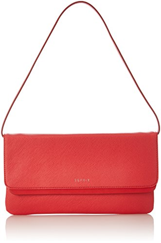 ESPRIT - 127ea1o051, Borse Baguette Donna Rosso (Coral Red)